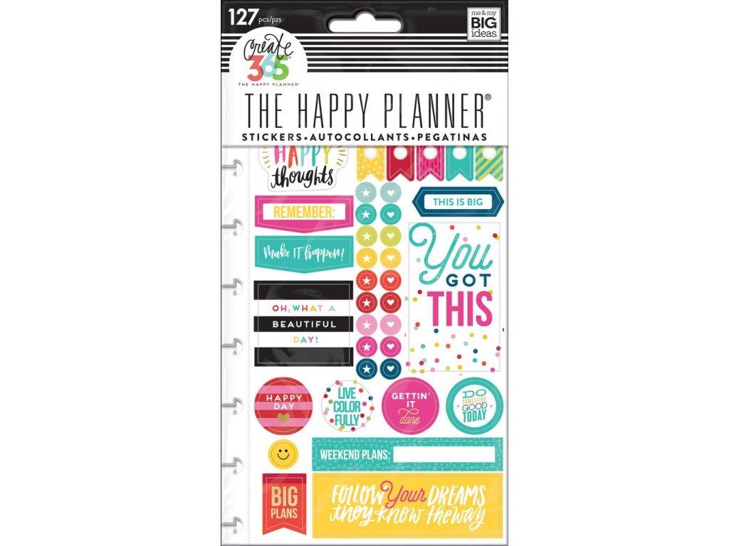 Samolepky Happy Planner - Happy Brights