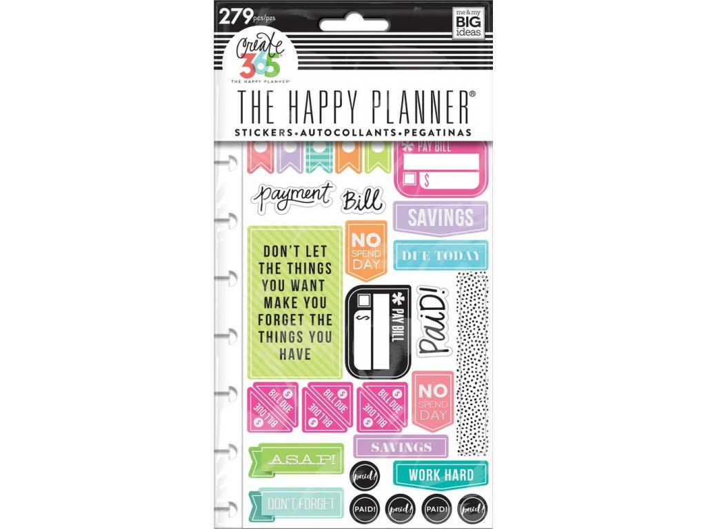 Samolepky Happy Planner - Get Paid