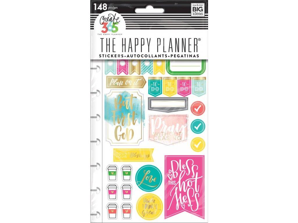 Samolepky Happy Planner - Faith Gratitude