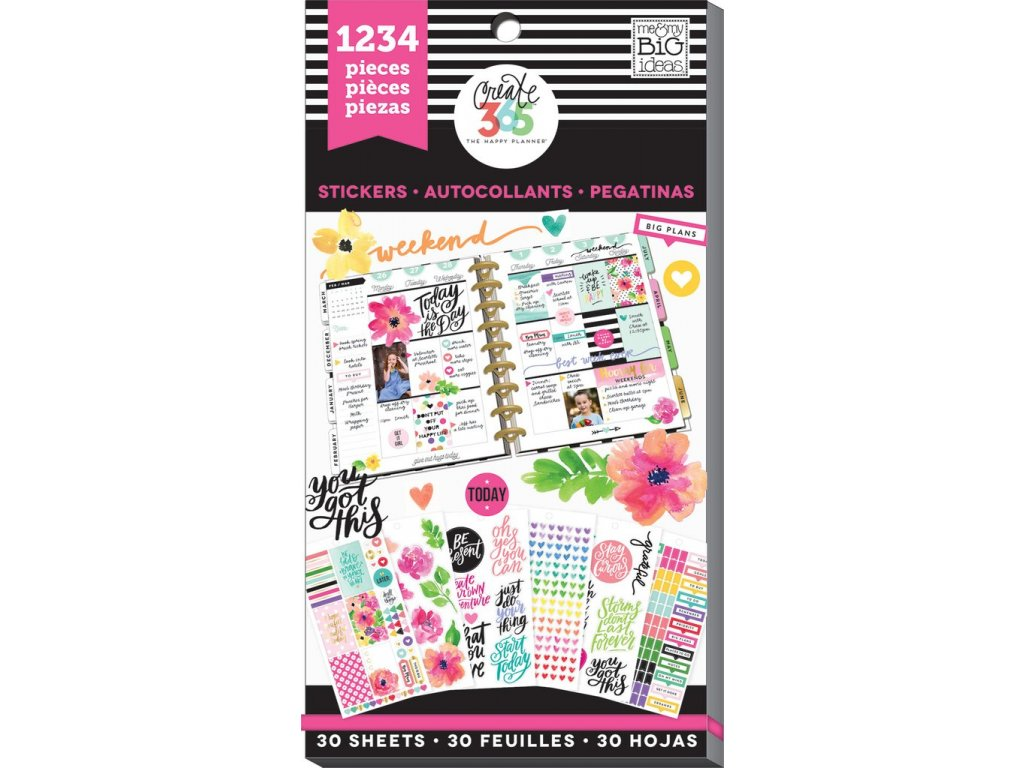 Samolepky Happy Planner Value Pack - Today Is The Day