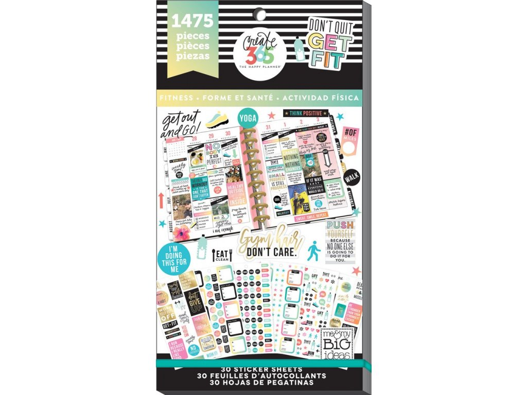 Samolepky Happy Planner Value Pack - Work It Out