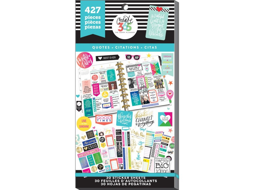 Samolepky Happy Planner Value Pack - Quotes