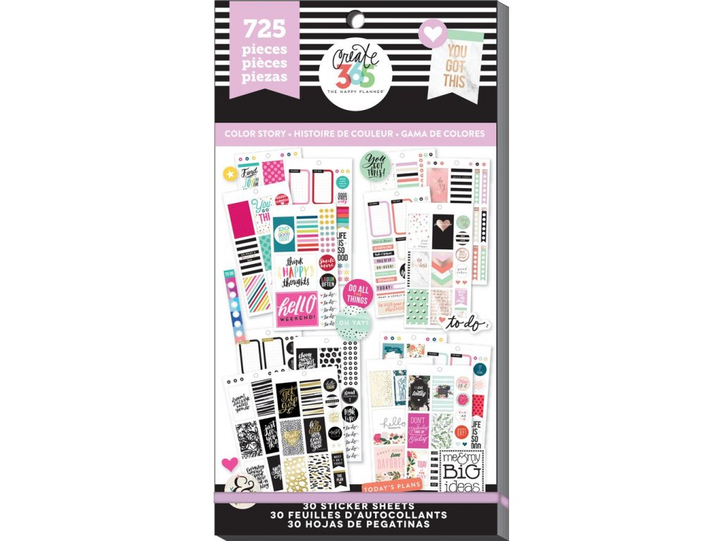 Samolepky Happy Planner Value Pack - Color Story