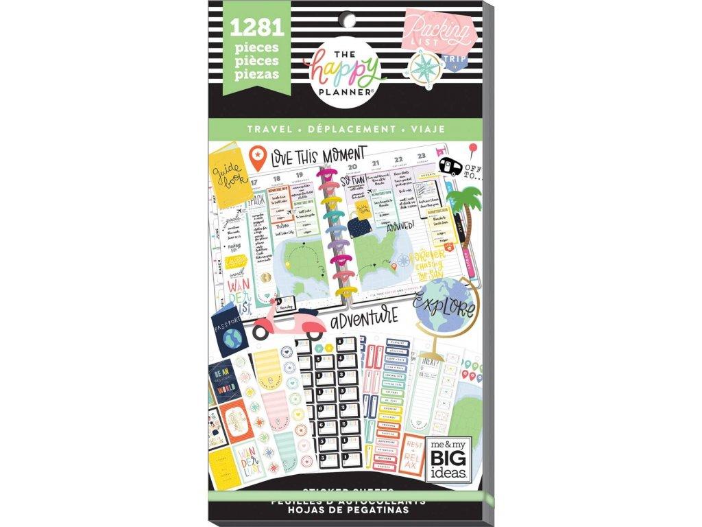 Samolepky Happy Planner Value Pack - Travel