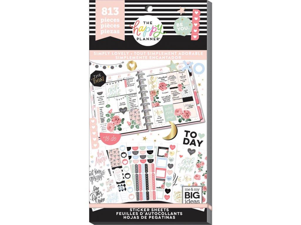 Samolepky Happy Planner Value Pack - Simply Lovely