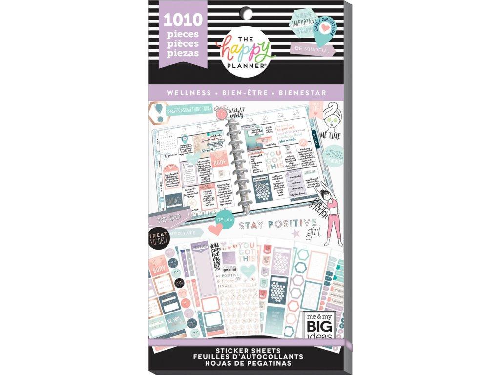 Samolepky Happy Planner Value Pack - Wellness