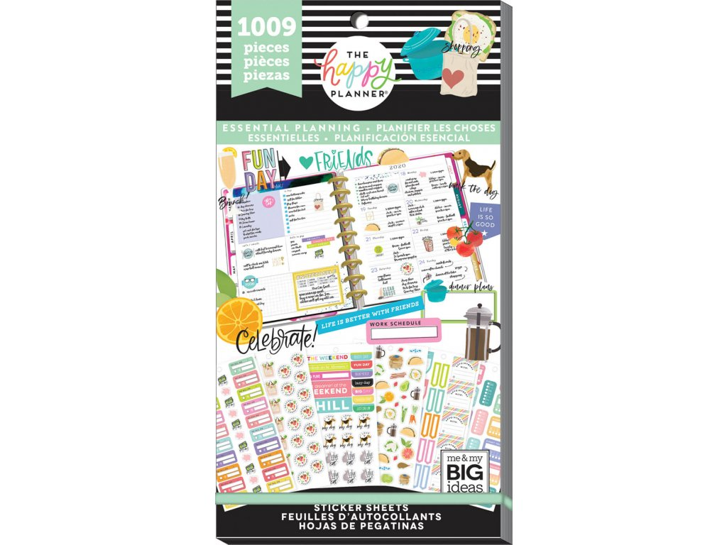 Samolepky Happy Planner Value Pack - Essential Planning