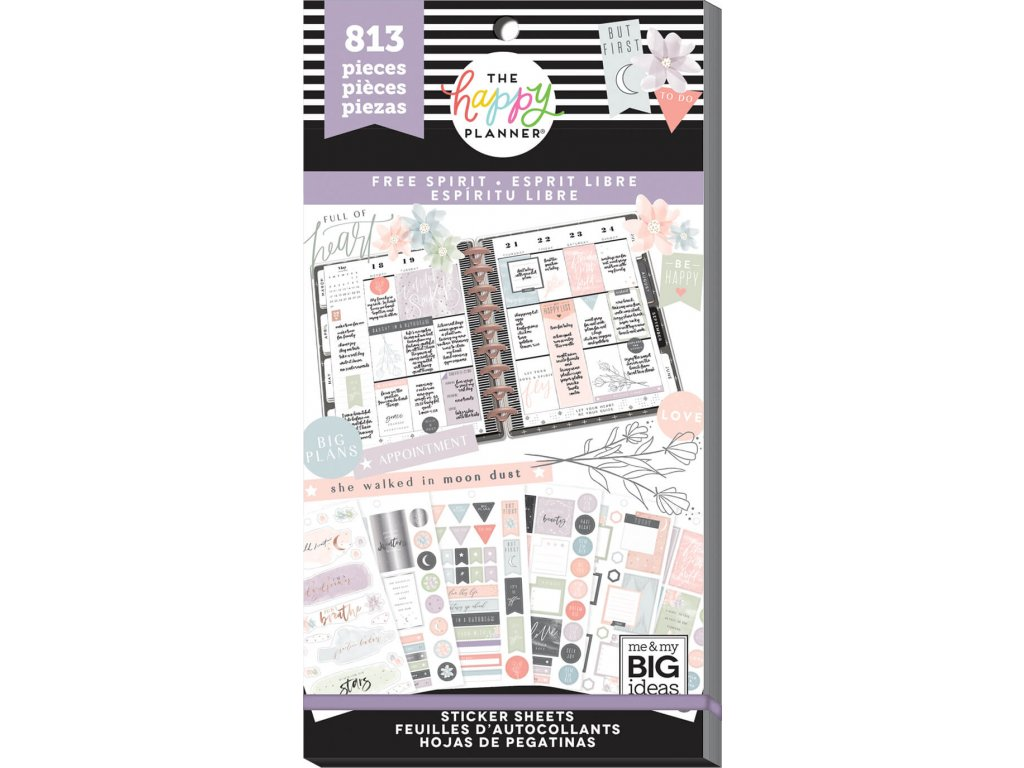 Samolepky Happy Planner Value Pack - Free Spirit