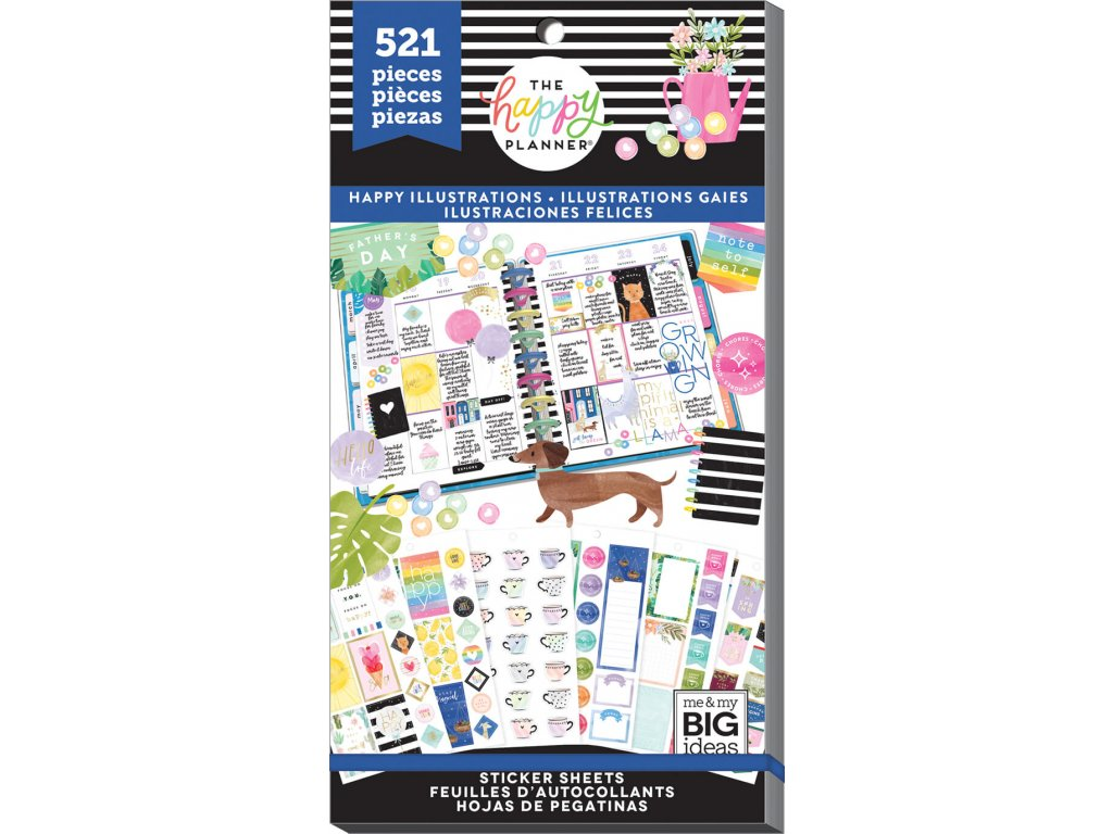 Samolepky Happy Planner Value Pack - Happy Illustrations
