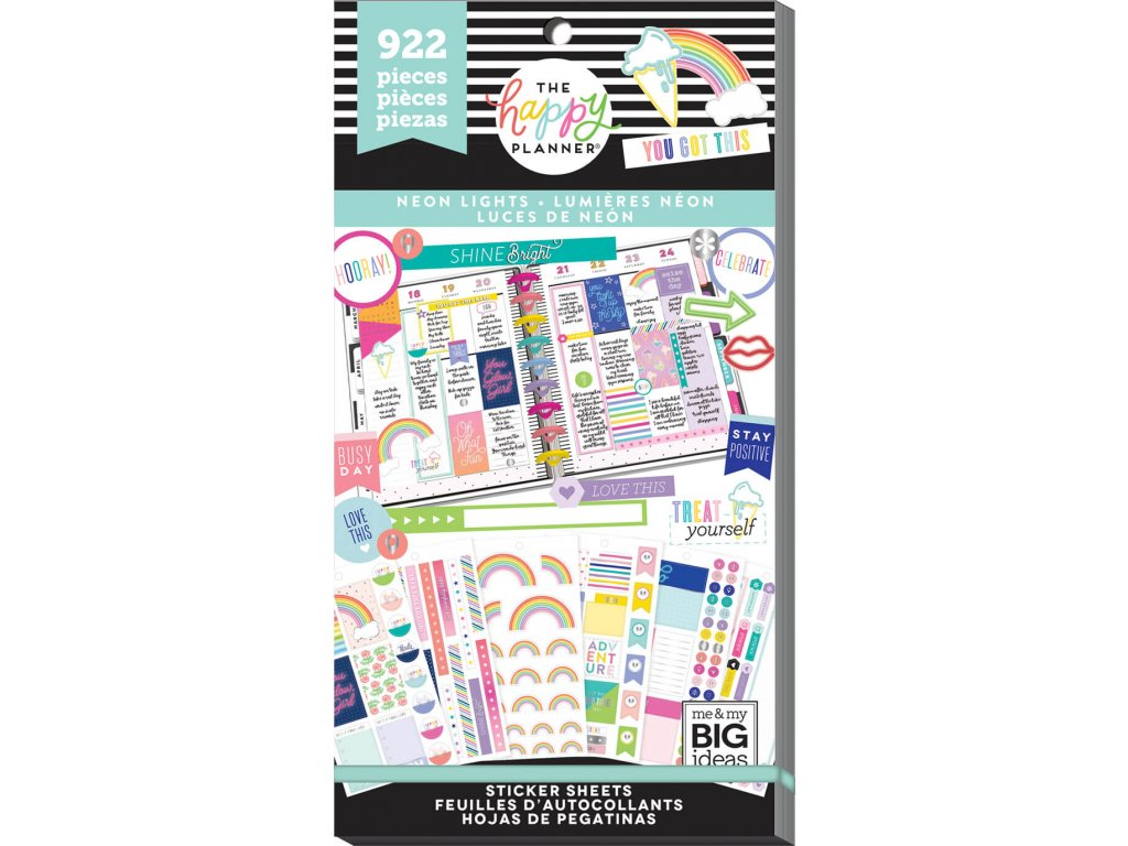 Samolepky Happy Planner Value Pack - Neon Lights