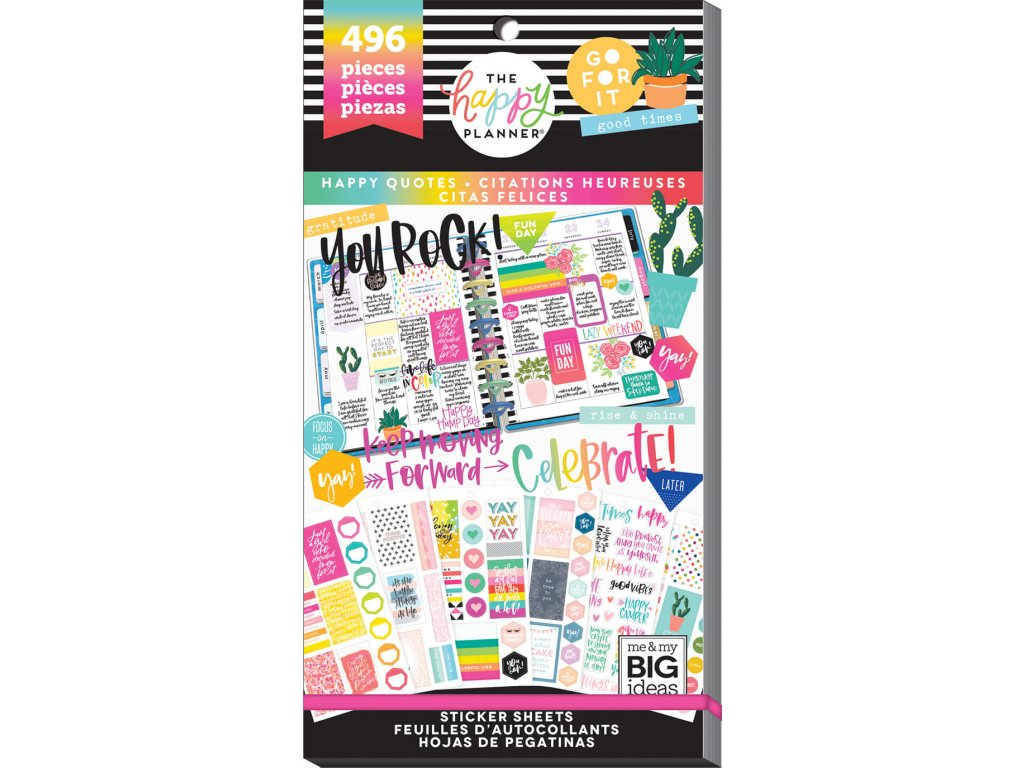 Samolepky Happy Planner Value Pack - Happy Quotes