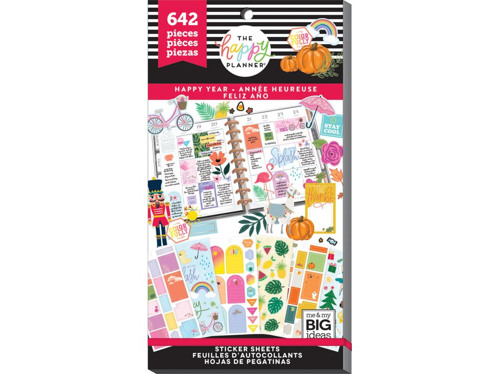 Samolepky Happy Planner Value Pack - Happy Year