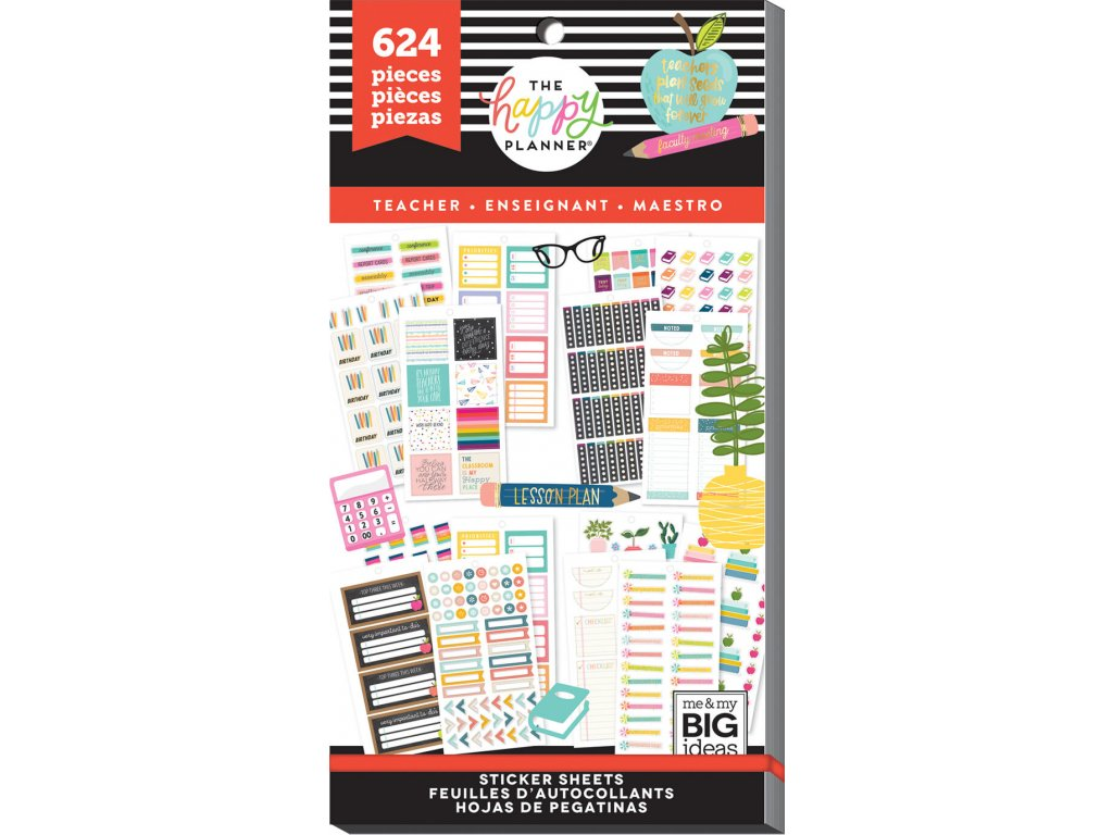 Samolepky Happy Planner Value Pack - Functional Teacher