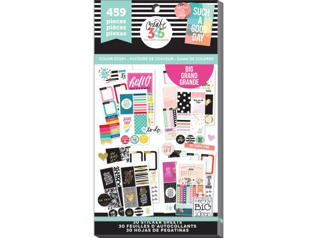 Samolepky Happy Planner BIG Value Pack - Color Story