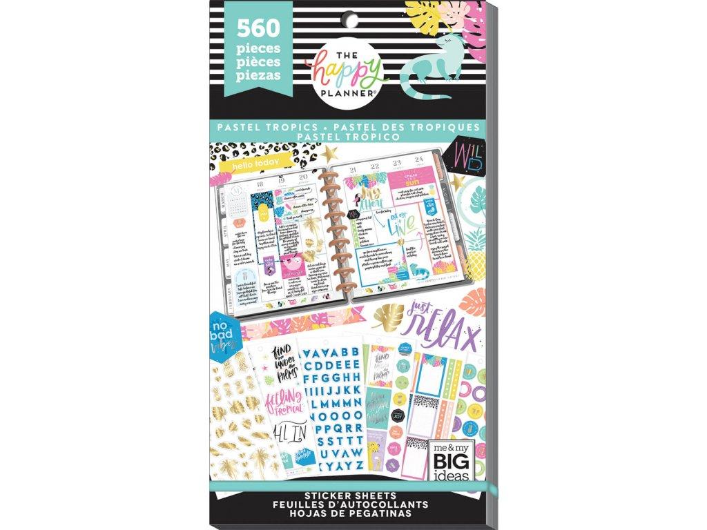 Samolepky Happy Planner Value Pack - Pastel Tropics