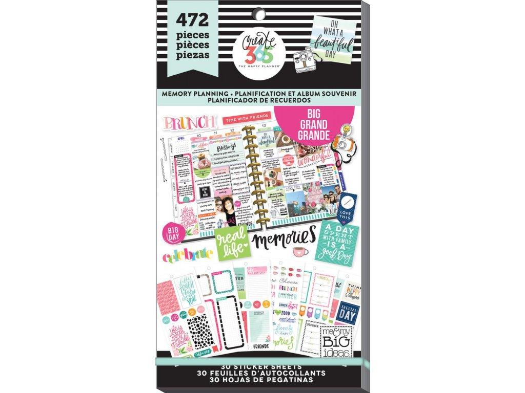 Samolepky Happy Planner BIG Value Pack - Memory Planning