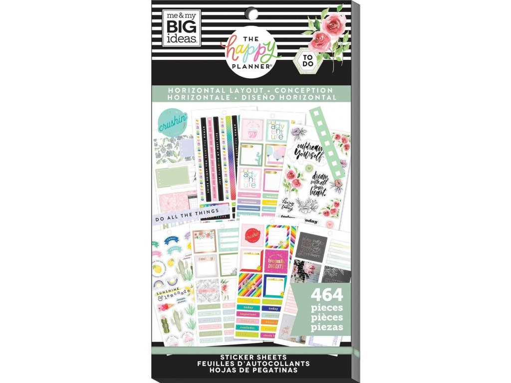 Samolepky Happy Planner Value Pack - Horizontal
