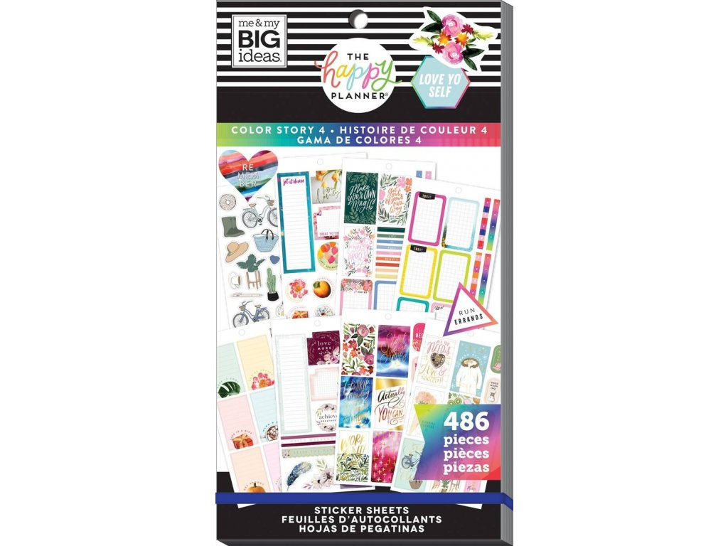 Samolepky Happy Planner Value Pack - Color Story 4