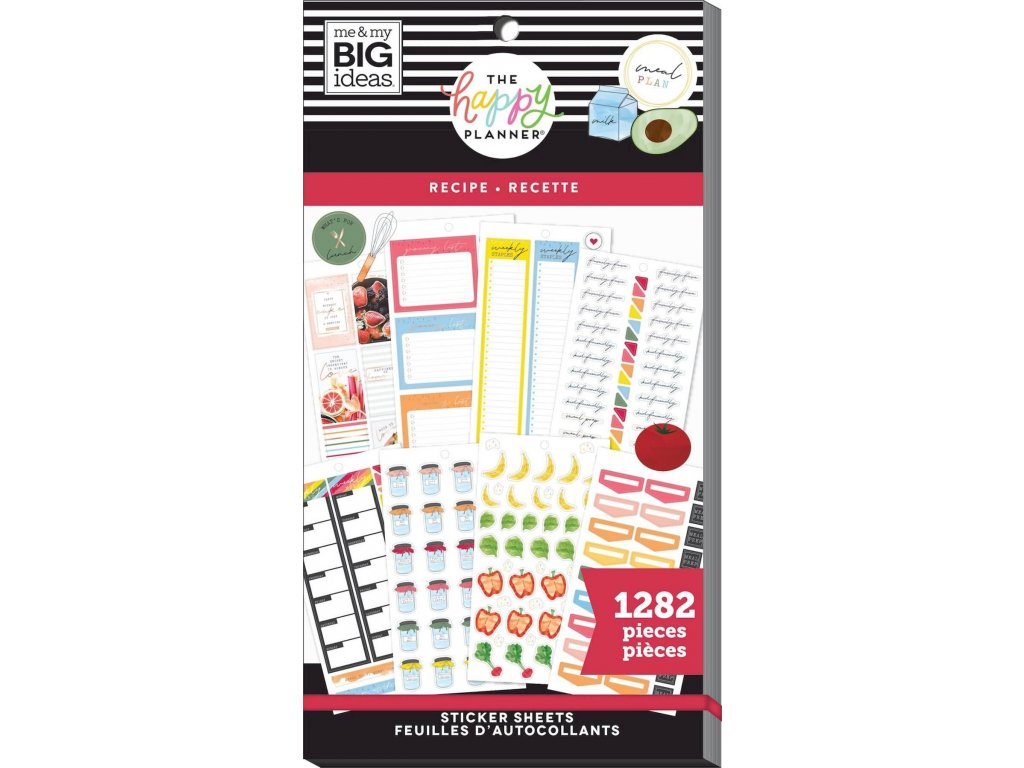Samolepky Happy Planner Value Pack - Recipe