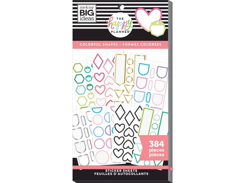 Samolepky Happy Planner Value Pack - Colorful Shapes