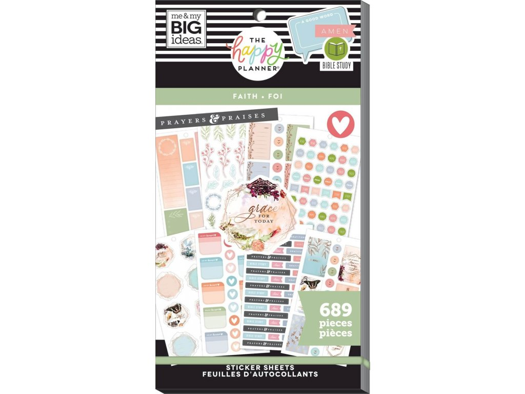 Samolepky Happy Planner Value Pack - Faith Be Still