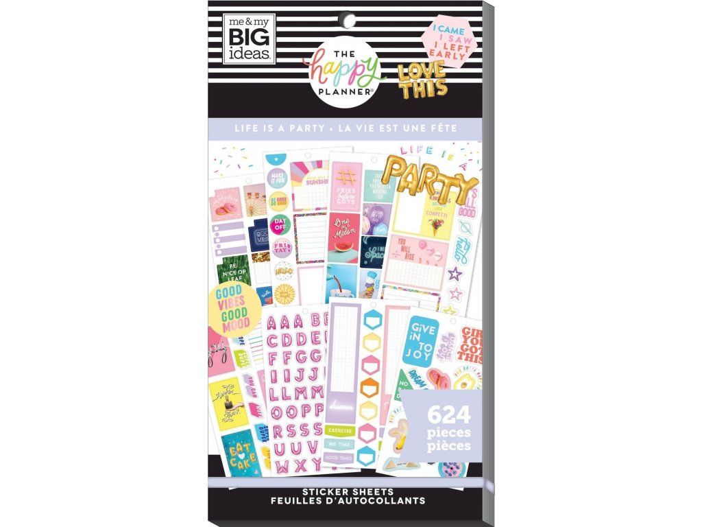 Samolepky Happy Planner Value Pack - Life is a Party