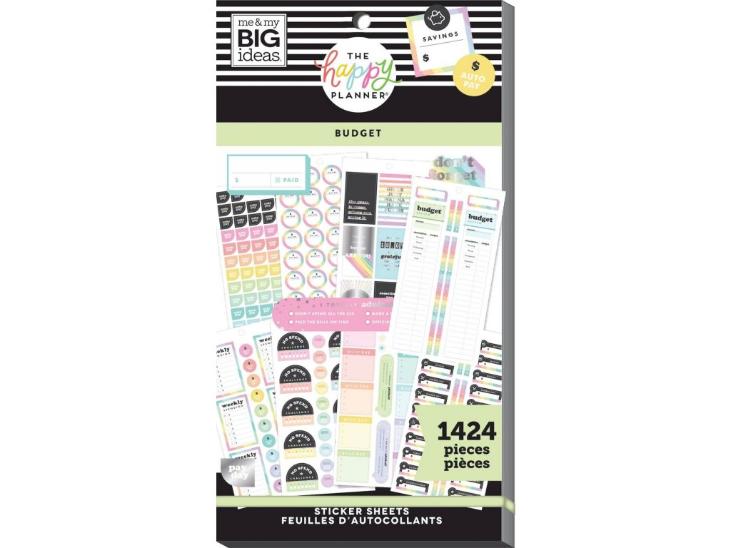 Samolepky Happy Planner Value Pack - Budget