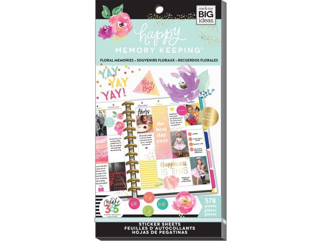 Samolepky Happy Planner BIG Value Pack  - Floral Memories