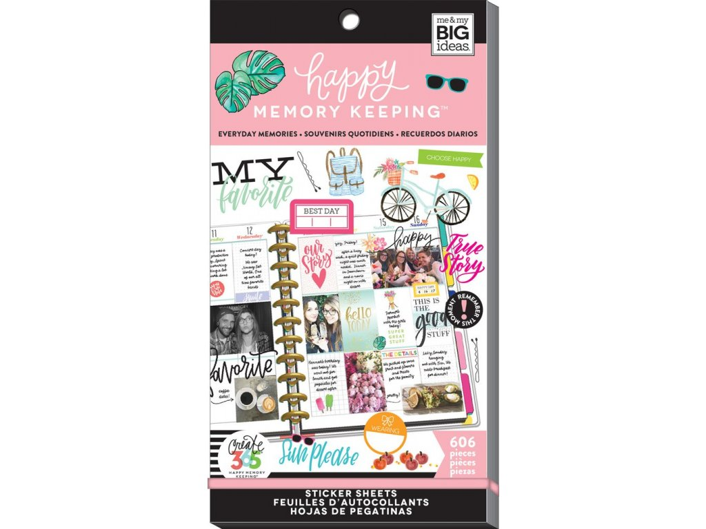 Samolepky Happy Planner BIG Value Pack - Everyday Memories