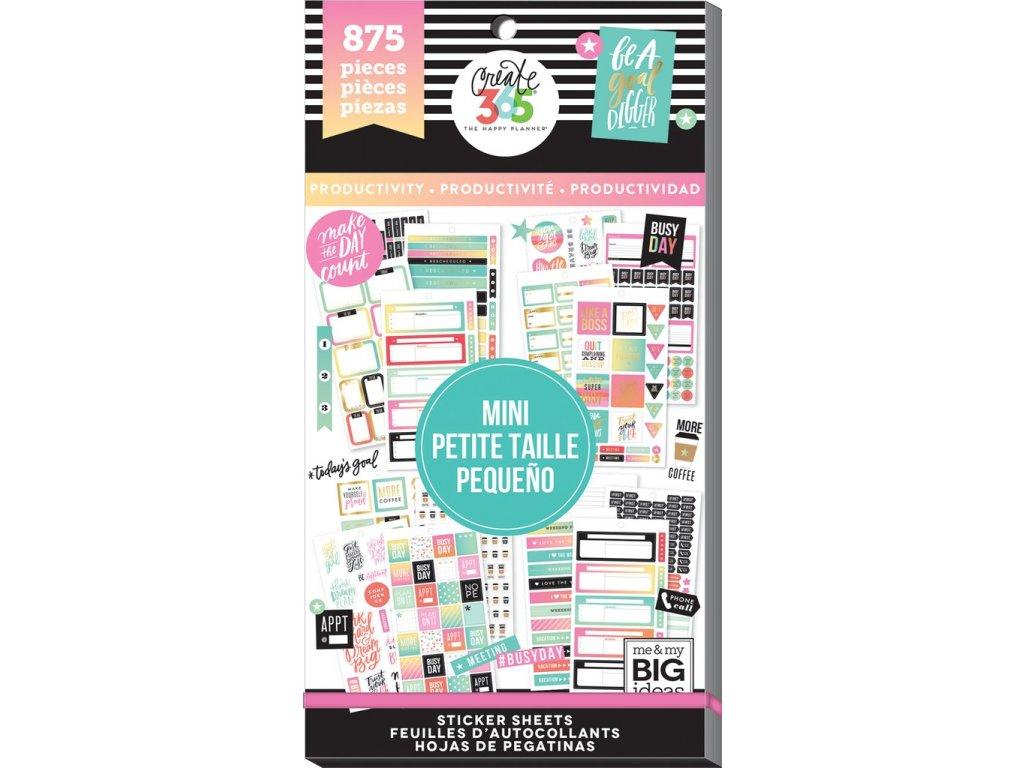Samolepky Happy Planner MINI Value Pack - Productivity