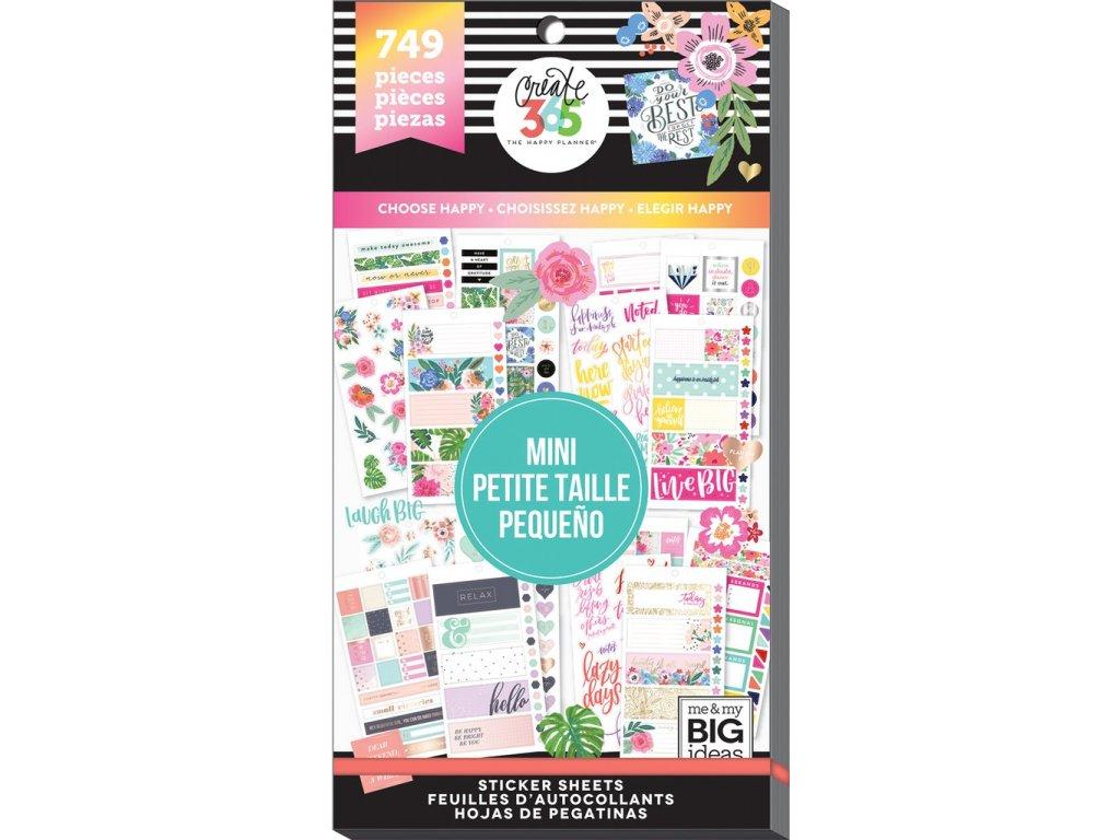 Samolepky Happy Planner MINI Value Pack - Choose Happy