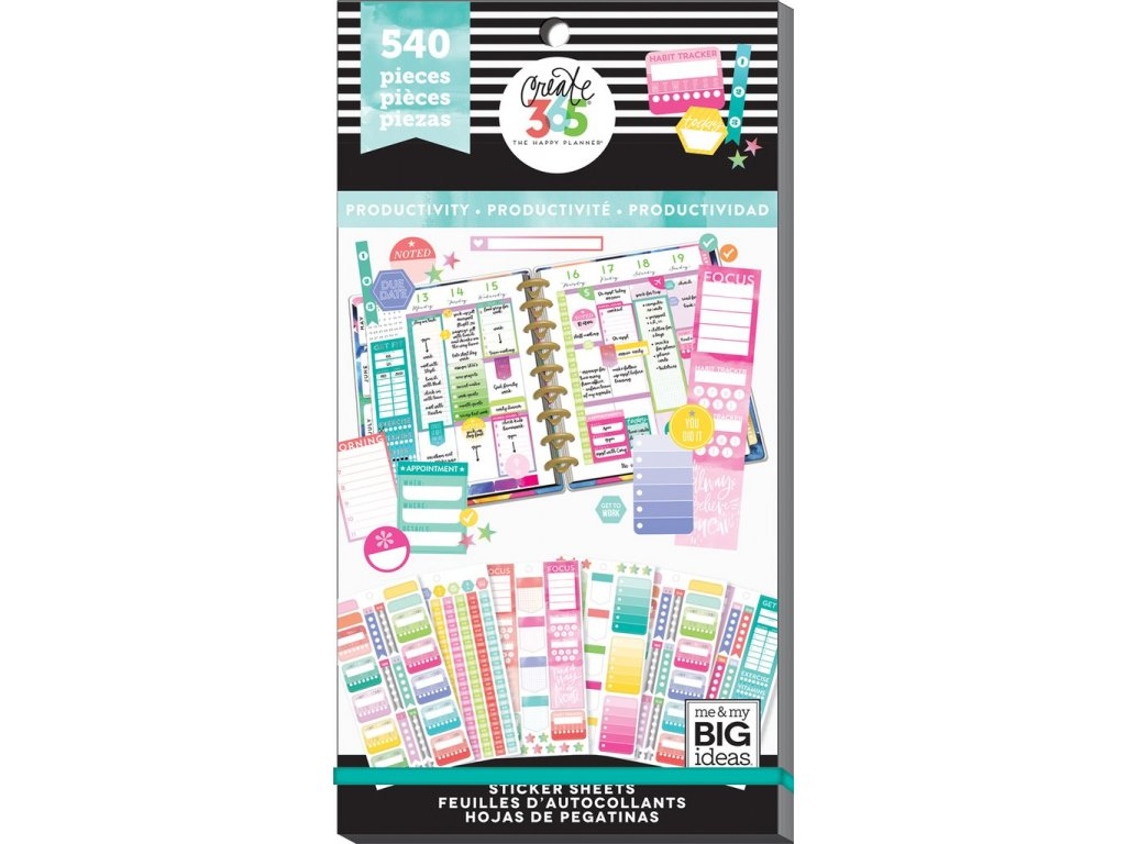 Samolepky Happy Planner Value Pack - Fill In Productivity