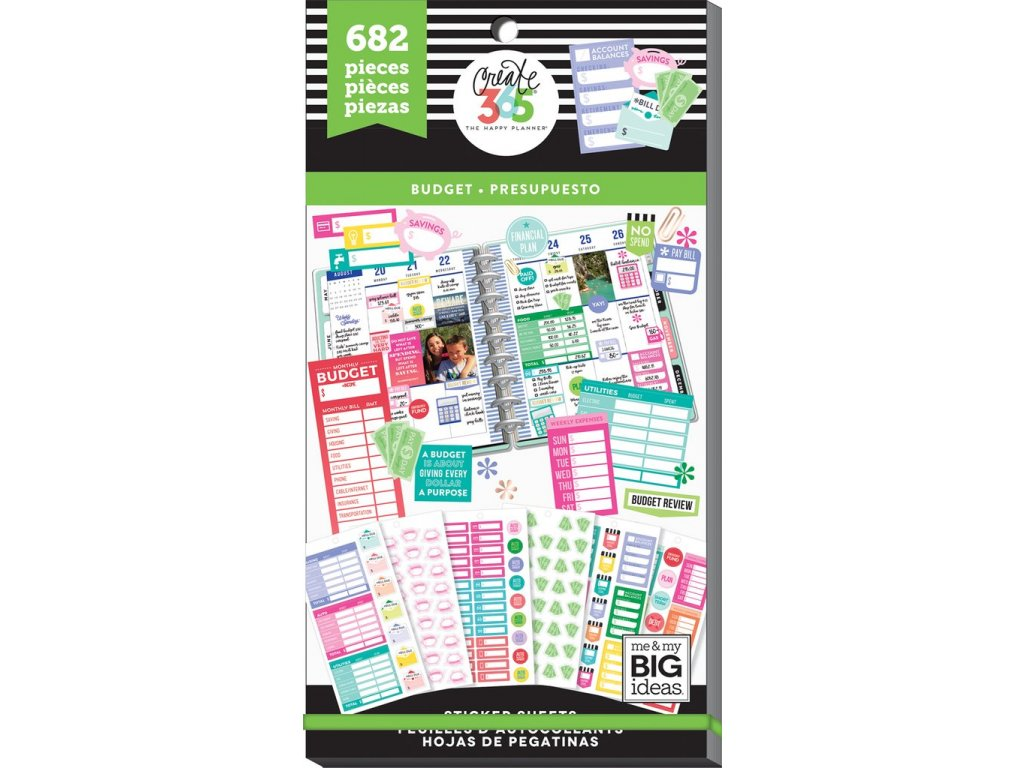 Samolepky Happy Planner Value Pack - Fill In Budget