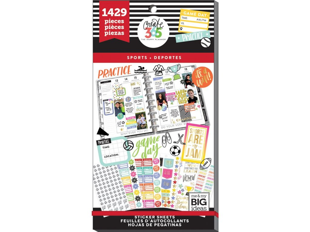 Samolepky Happy Planner Value Pack - Sports
