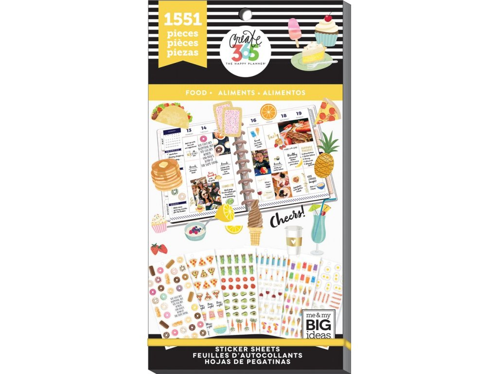 Samolepky Happy Planner Value Pack - Food