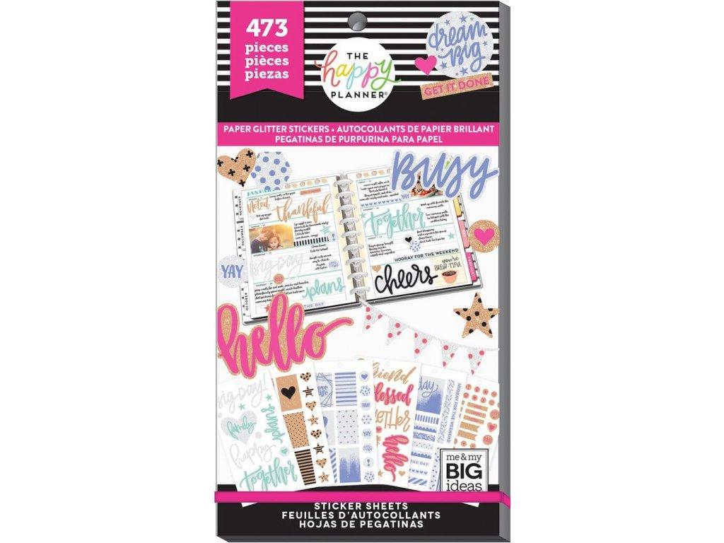 Samolepky Happy Planner Value Pack - Paper Glitter