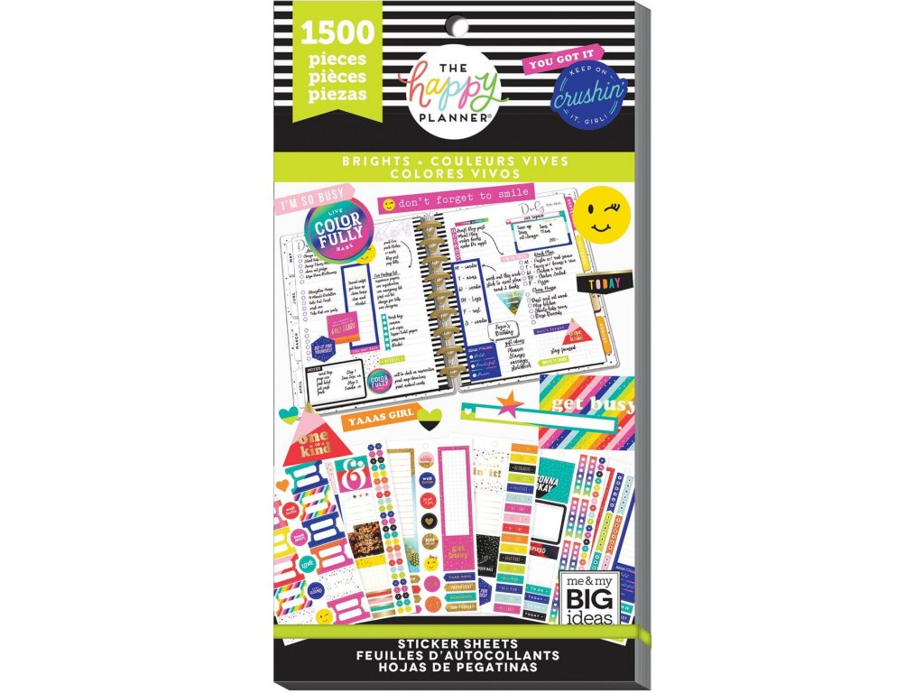 Samolepky Happy Planner Value Pack - Brights