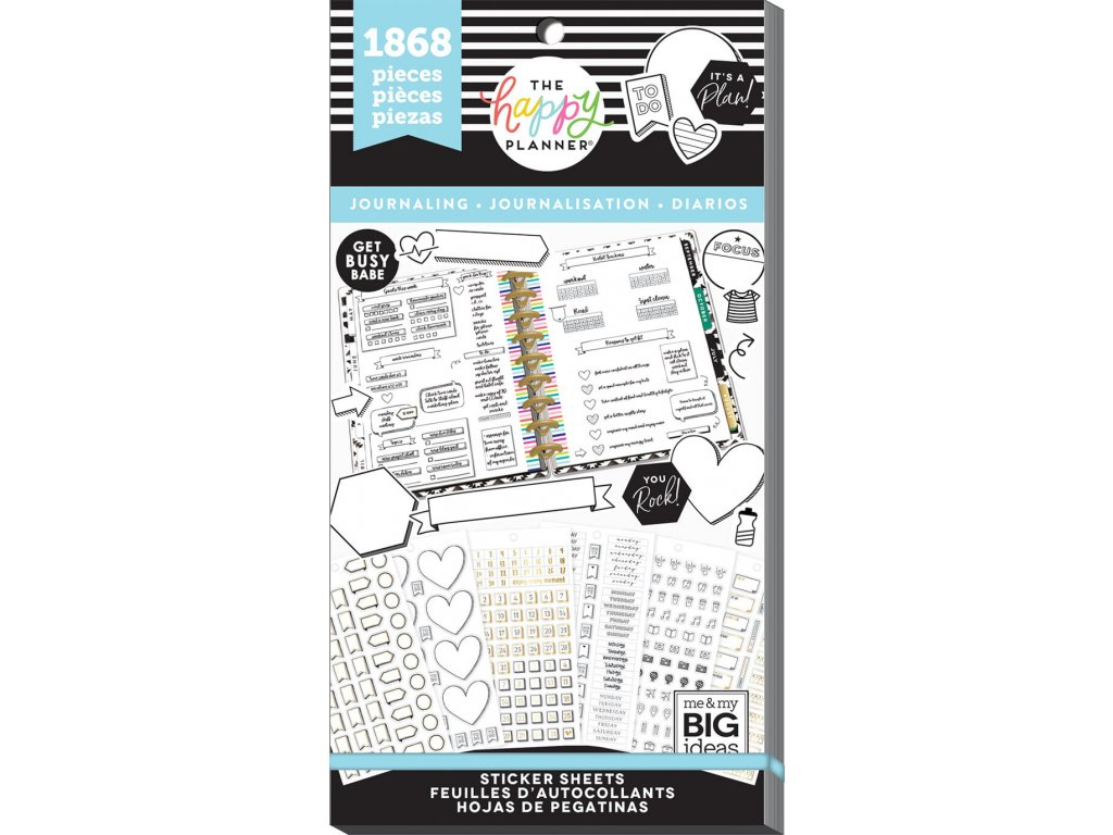 Samolepky Happy Planner Value Pack - Happy Journal Functional