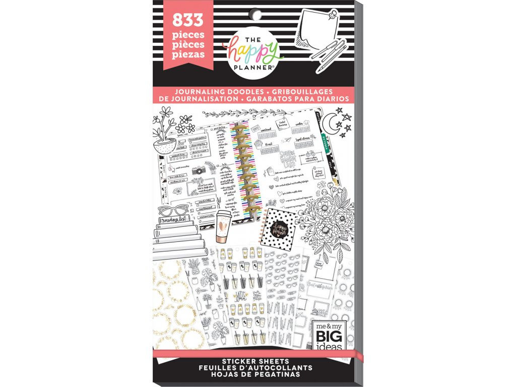 Samolepky Happy Planner Value Pack - Happy Journal Decorative