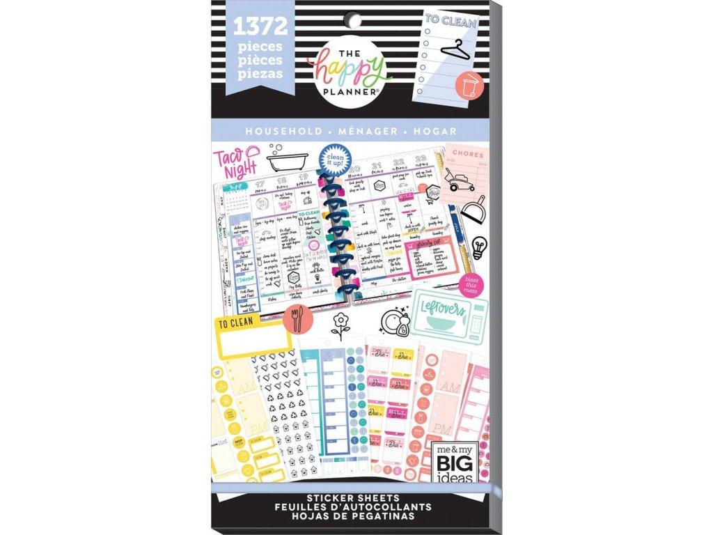 Samolepky Happy Planner Value Pack - Household
