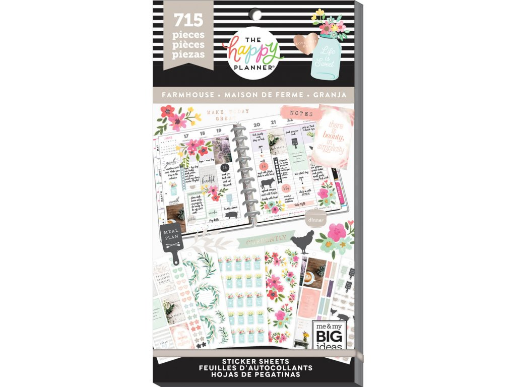 Samolepky Happy Planner Value Pack - Farmhouse