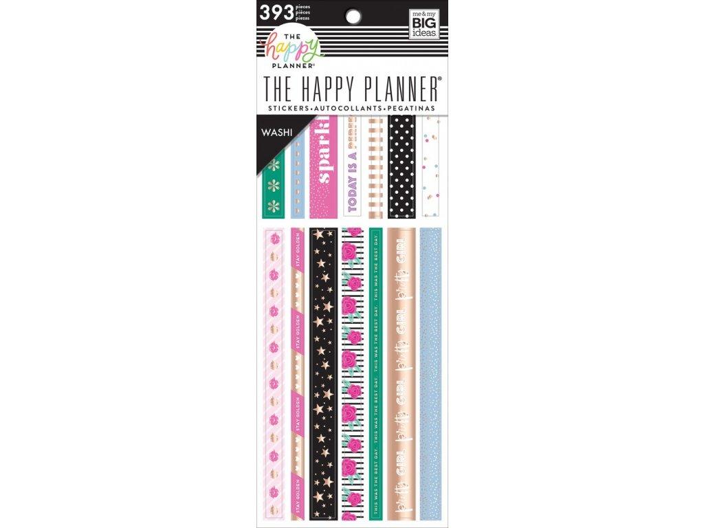 Washi samolepky Happy Planner - Girly
