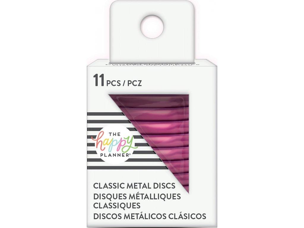 Spojovací kovové disky do diáře Happy Planner 3,2 cm - Hot Pink