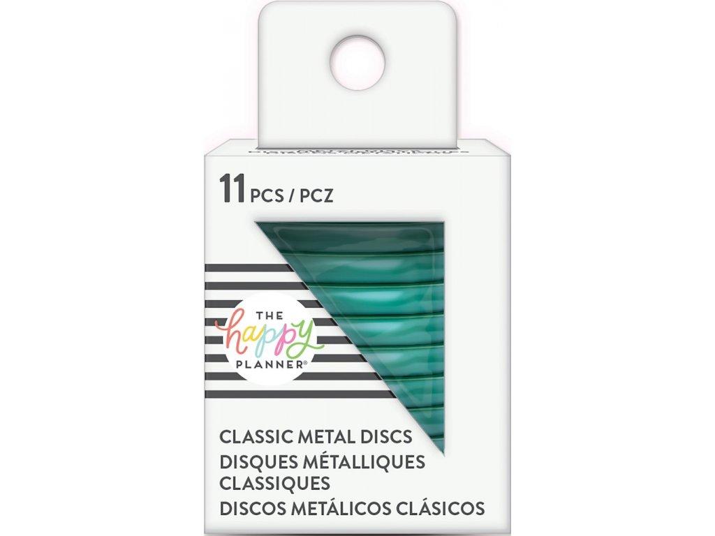 Spojovací kovové disky do diáře Happy Planner 3,2 cm - Teal