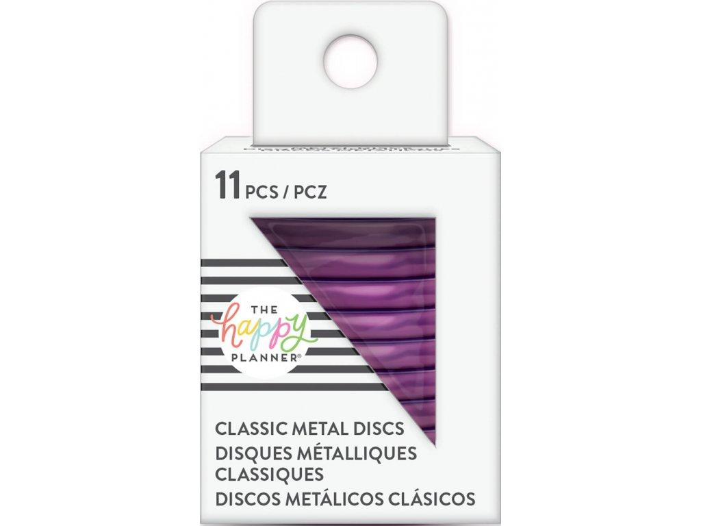 Spojovací kovové disky do diáře Happy Planner 3,2 cm - Violet