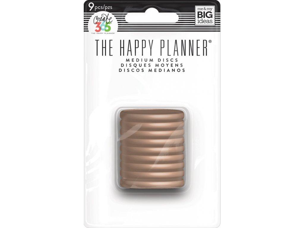 Spojovací disky do diáře Happy Planner 3,2 cm - Rose Gold
