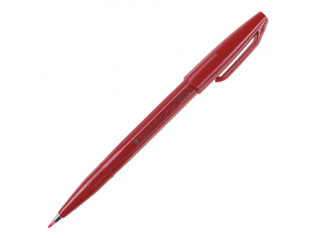 pentel brush Sign Pen červená