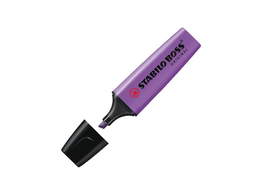 zvýrazňovač stabilo boss fialový