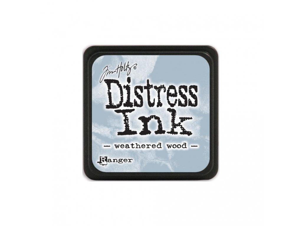 Razítkovací polštářek Distress Mini - Weathered Wood