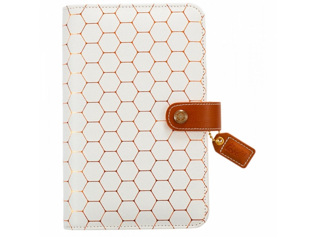 Obal na diář Webster's Pages A6 - Copper Hexagon